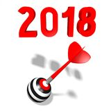 3D 2018 New Year illustration. Isolated on white background Royalty Free Stock Photography