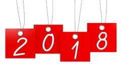 3D 2018 New Year illustration. Isolated on white background Royalty Free Stock Images