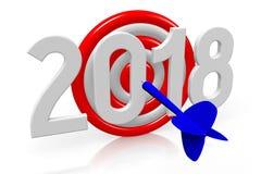 3D 2018 New Year illustration. Isolated on white background stock illustration