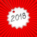 3D 2018 New Year illustration. Red background explosion - great for topics like advertisement etc Stock Photography