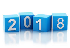 3d New Year 2018 Stock Photos