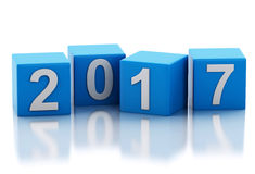 3d New Year 2017 Royalty Free Stock Images