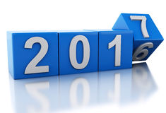 3d New Year 2017 Royalty Free Stock Photos