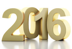 3d New Year 2016. 3d renderer image. New Year 2016 isolated on white background Royalty Free Stock Image