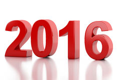 3d New Year 2016. 3d renderer image. New Year 2016 isolated on white background Stock Images