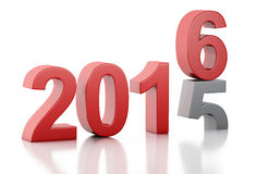 3d New Year 2016 Stock Image