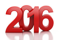 3d New Year 2016. 3d renderer image. New Year 2016 isolated on white background Royalty Free Stock Photo