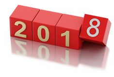 3d New Year 2018 Stock Photo
