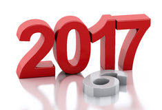 3d New Year 2017 Royalty Free Stock Photography
