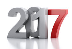 3d New Year 2017 Stock Images