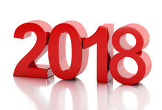 3d New Year 2018 Stock Image