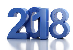 3d New Year 2018 Stock Images