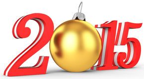 3d 2015 new year. On white background Royalty Free Stock Images