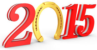 3d 2015 new year Stock Images