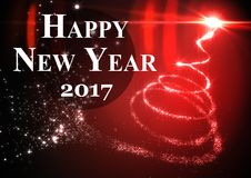 3D 2017 new year wishes against digitally generated background. 3D 2017 new year wishes against digitally generated red and black background Royalty Free Stock Photography