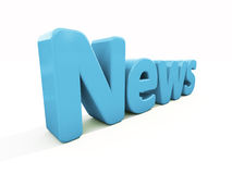 3d news. News icon on a white background. 3D illustration Royalty Free Stock Photos
