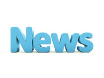 3d news. News icon on a white background. 3D illustration Stock Image