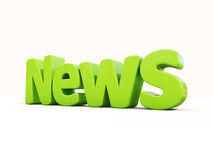 3d news. News icon on a white background. 3D illustration Royalty Free Stock Photo