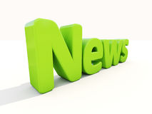 3d news. News icon on a white background. 3D illustration Stock Images