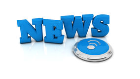 3d news illustration Stock Images