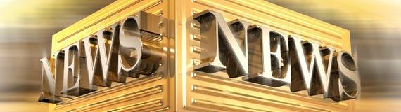 3D News Logo Stock Photography