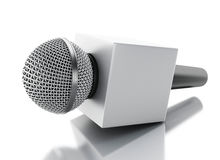 3d News microphone tv. News concept. 3d renderer image. News microphone tv. News concept.  white background Royalty Free Stock Photography