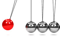 3d Newtons cradle in motion Stock Image