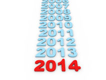 3d 2014 newyear Images stock