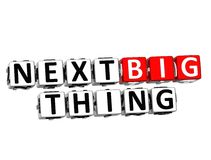 3D Next Big Thing Button Click Here Block Text. Over white background Royalty Free Stock Photo