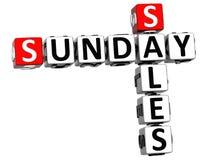 3D Niedziela sprzedaży Crossword Obraz Royalty Free