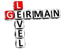 3D niemiec pozioma Crossword Fotografia Royalty Free