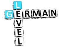 3D niemiec pozioma Crossword Zdjęcie Stock