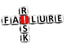 3D niepowodzenia ryzyka Crossword Zdjęcie Stock