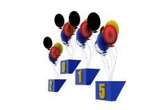 3d nieuwe concept van jaarballons Stock Foto