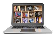 3D Nieuwe technologieën Het concept van verschillende media Stock Foto's