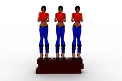 3d nieuwe vrouwen Stock Fotografie