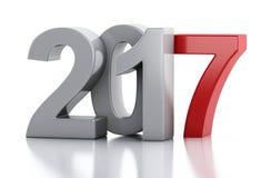 3d Nieuwjaar 2017 Stock Afbeeldingen