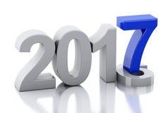 3d Nieuwjaar 2017 Stock Fotografie