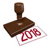 3D 2018 Nieuwjaarillustratie Royalty-vrije Stock Afbeeldingen