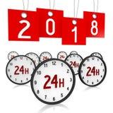 3D 2018 Nieuwjaarillustratie vector illustratie