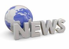 3D nieuws - Stock Afbeelding