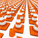 3d Nightmare traffic cones Stock Images