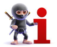3d Ninja assassin has information Royalty Free Stock Images