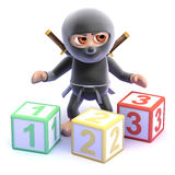 3d Ninja counts Royalty Free Stock Images