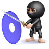 3d Ninja dvd Royalty Free Stock Image