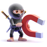 3d Ninja magnet Royalty Free Stock Photos