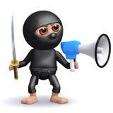 3d Ninja megaphone Royalty Free Stock Image