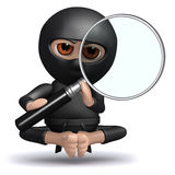 3d Ninja observes Royalty Free Stock Image