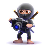 3d Ninja photographer Royalty Free Stock Photos