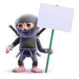3d Ninja protests Royalty Free Stock Photo